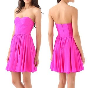 Rebecca Taylor Pink Perfect Fit Strapless Dress